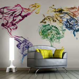 Fototapeta - Dancing smoke trails