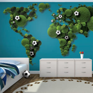 Fototapeta - A World of football