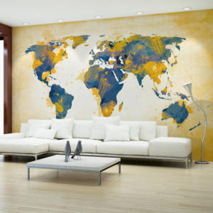 Fototapeta  Map of the World  Sun and sky